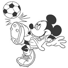 Mickey mouse playing soccer coloring page kids activities микки маус y траф Football Coloring Pages, Mickey Mouse Coloring Pages, Disney Coloring Pages, Coloring Book Pages, Coloring Pages For Kids, Adult Coloring, Baby Tattoos, Tattoos For Kids, Print Tattoos