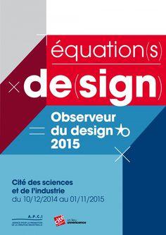 Observeur du design 2015 à la Cité des sciences et de l'industrie. Affiche