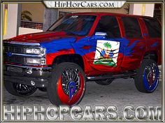 hip hop custom trucks pictures | Dub Azzsmacka rims - Dub Wheels 30 inch on Hatian themed Chevy Tahoe ...