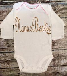 Baby Girl Onesie Nana s Bestie Onesie For Baby by BellaPiccoli Baby Shirts 1628bb6ff