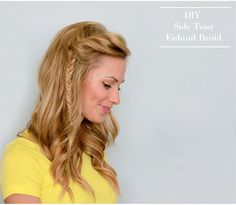 DIY Side Twist Fishtail Braid