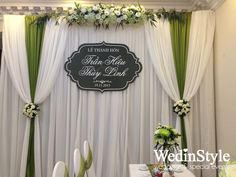 Trang trí lễ ăn hỏi, đón dâu tại nhà - Engagement Decorations - Designed and decor by WedinStyle - The Stylish Wedding Planner of Vietnam  #backdrops