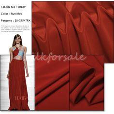http://www.silkfabricwholesale.com/14mm-silk-crepe-de-chine-fabric-rust-red.html      F.D. silk most professional 14mm silk crepe de chine fabric-rust red supplier.