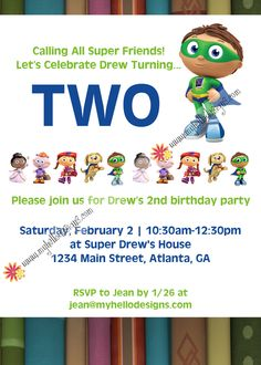 7 best jordans 2nd birthday images on pinterest super why super why birthday invitation 1500 via etsy filmwisefo
