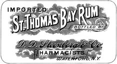 Vintage Bay Rum Label! - The Graphics Fairy