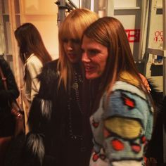 One of our fashion favorites @anna_dello_russo post show with @rachelzoe! #RZFW #NYFW - @thezoereport- #webstagram