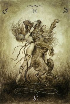 Luis Royo - The Labyrinth Tarot - Major Arcana: Strength