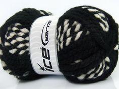fnt2-36600 Combo Wool Superbulky Bianco Nero