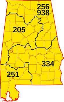My Area Code Covers A Huge Area A R T S T U F F - 205 area code usa