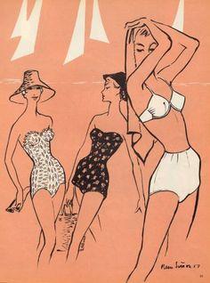 Pierre Simon 1957 Swimwear, Réard, Boléro & Trébor