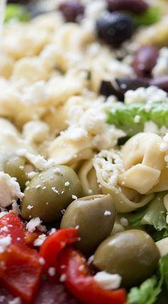 Italian Chopped Salad with Tortellini