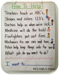 Identify community workers and the services they provide. This is a great poem/song to rememberer some of the community helpers and what they do. Community Helpers Kindergarten, Kindergarten Social Studies, School Community, Classroom Community, In Kindergarten, Community Helpers Art, Community Jobs, Community Helpers Activities, Preschool Songs
