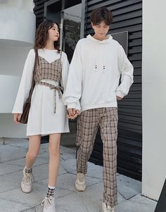 Cute Casual Outfits, Pretty Outfits, Ulzzang Fashion, Korean Fashion, Matching Couple Outfits, Mode Chic, Fashion Couple, Korean Outfits, Couple Goals