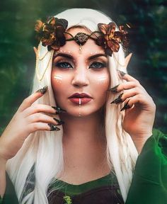 image de maquillage pour Halloween simple - femme elfe