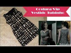Costura Vestido Tubinho Carmem Novela Império #VEDA23  com FORRO