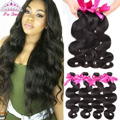 Brazilian Body Wave 4Bundles Brazilian Virgin Hair Im Queen Hair Brazilian Body Wave,8A Mink Brazilian Human Hair Weave Bundles * Clicking on the VISIT button will lead you to find similar product