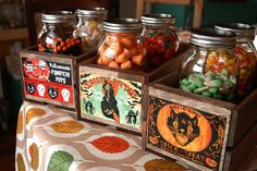 Halloween Candy Crates ~ tutorial and free printable labels