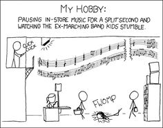 Marching Band humor... this is something I would do XD