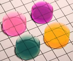 Colored Aerogel Discs from Aerogel Technologies