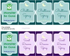 Essential Oils for Bedtime: Bedtime/ Sleepy Spray Recipe with Free Printables - Easy Green Mom(Bottle Green Mom) Yl Oils, Doterra Oils, Doterra Essential Oils, Young Living Essential Oils, Essential Oil Blends, Printable Labels, Free Printables, Monster Spray, Linen Spray