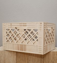 Wooden Milk Crate | independently made by WAAM Industries
