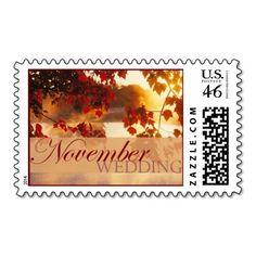 November Wedding II Postage Stamp