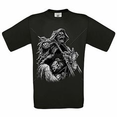 Grim #reaper #riding motorcycle ref 13432 #screen print black t shirt / vest,  View more on the LINK: http://www.zeppy.io/product/gb/2/262491571253/