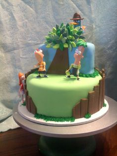 #Phineas and #Ferb Cake - For all your cake decorating supplies, please visit craftcompany.co.uk
