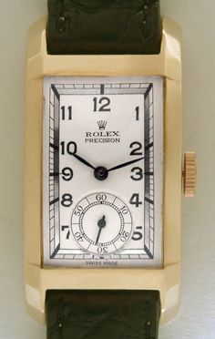 Rolex Yellow Gold Prince Elegante Curvex Wristwatch Ref 3059 1937 | From a unique collection of vintage wrist watches at https://www.1stdibs.com/jewelry/watches/wrist-watches/