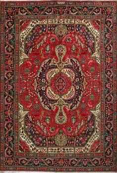 "Tabriz Persian Rug, Buy Handmade Tabriz Persian Rug 6' 8"" x 9' 8"", Authentic Persian Rug $1,232.50More Pins Like This At FOSTERGINGER @ Pinterest"