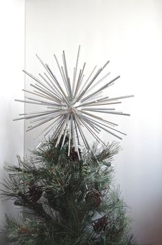 Christmas Tree Topper Star 10 Off Silver Wood Decoration Ornament Wedding Centerpiece