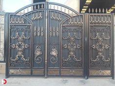 30 Modern Main Gate Design Ideas - Engineering Discoveries Modern Main Gate Designs, Modern Design, Front Gate Design, Wooden Main Door Design, Architectural Engineering, Front Gates, Luxury House Plans, Types Of Houses, Design Ideas