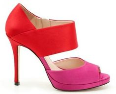 one of the best color pairings in #fashion #hotpink #red