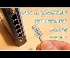 Fix your broken Ethernet Plug (using zip tie)