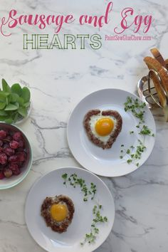 Sausage and Egg Hearts Valentine Breakfast Idea
