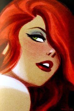 Redhead art *Delilah or mafia