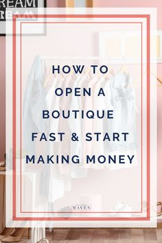 How To Open A Boutique Fast & Start Making Money - Starting A Business - Ideas of Starting A Business - How To Open A Boutique Fast & Start Making Money Cath Kidston, Visual Merchandising, Starting An Online Boutique, Online Boutique Stores, Online Fashion Boutique, Make Money Online, How To Make Money, Boutique Names, Fashion Business