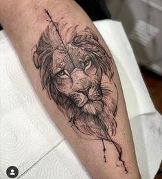 Pisces Tattoo Designs, Lion Tattoo Design, Forearm Tattoo Design, Tattoo Designs For Girls, Lion Head Tattoos, Forarm Tattoos, Body Art Tattoos, Lion Tattoo On Thigh, Lion Forearm Tattoos