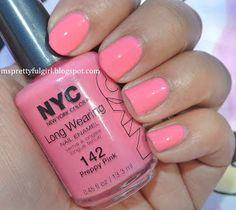 NYC Long Wearing Nail Enamel in Preppy Pink