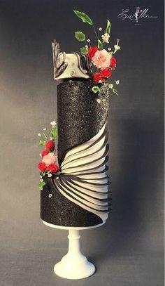 Premium Мастер-классы по украшению тортов Cake Decorating Tutorials (How To's) Tortas Paso a Paso Luxury Wedding Cake, Beautiful Wedding Cakes, Gorgeous Cakes, Pretty Cakes, Amazing Cakes, Cute Cakes, Cake Wedding, Wedding Beauty, Wedding Bride