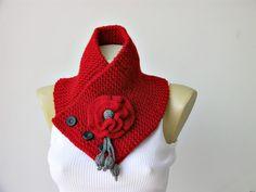 Neckwarmer Crochet scarf.  CUTE!  I love the xtra touches