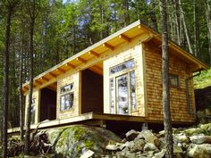 Cabin built on Bowen Island. Three sections,one roof. Custom Home Designs, Custom Homes, Bowen Island, West Coast, Construction, House Design, Cabin, Vacation, House Styles