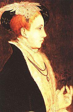 Profile portrait of Edward VI