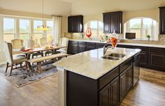 Elegant open #kitchen design and decor