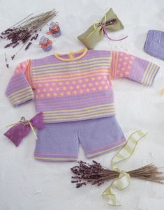 Revista bebé 1 Primavera / Verano | 14: Bebé Jersey | Lila claro / Rosa