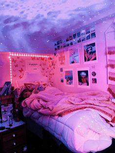 Teen Room Decor, Room Ideas Bedroom, Home Decor Bedroom, Bedroom Inspo, Bedroom Inspiration, Bedroom Ceiling, Bedroom Designs, Chill Room, Cozy Room