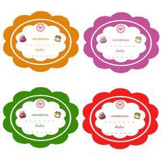 bellissime etichette colorate molto utili da incollare sul vasetto della vostra marmellata di arance o delle vostre melanzane sott'olio! Spice Labels, Food Labels, Recipe Cards, Decoupage, Banner, Stationery, Paper Crafts, Printables, Creative