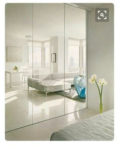 Ideas for bedroom white closet mirror Bedroom Wardrobe, Built In Wardrobe, Closet Mirror, Mirror Bedroom, Bathroom Closet, Mirrored Closet Doors, Master Closet, White Closet, Small Closets