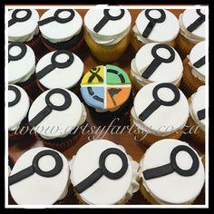 Geocache Cupcakes #geocachecupcakes Cupcake Cakes, Cupcakes, Sport Cakes, Geocaching, Sports, Desserts, Food, Hs Sports, Tailgate Desserts
