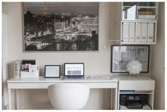 Super Simple Wedding Workflow System, wedding photographer home office space, white office space, being organized